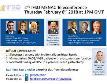 2nd IFSO MENAC Webinar: Difficult Bariatric Cases