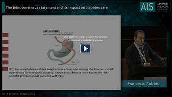 IFSO 2017 KEY NOTE LECTURES FRANCESCO RUBINO STATEMENT ON DIABETES